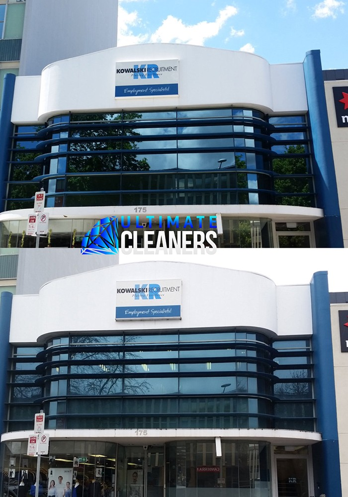 Building Facade Cleaning Before & After