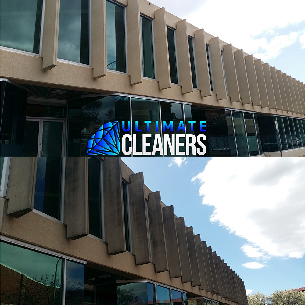 Concrete Building Cleaning Before & After - Ultimate Cleaners