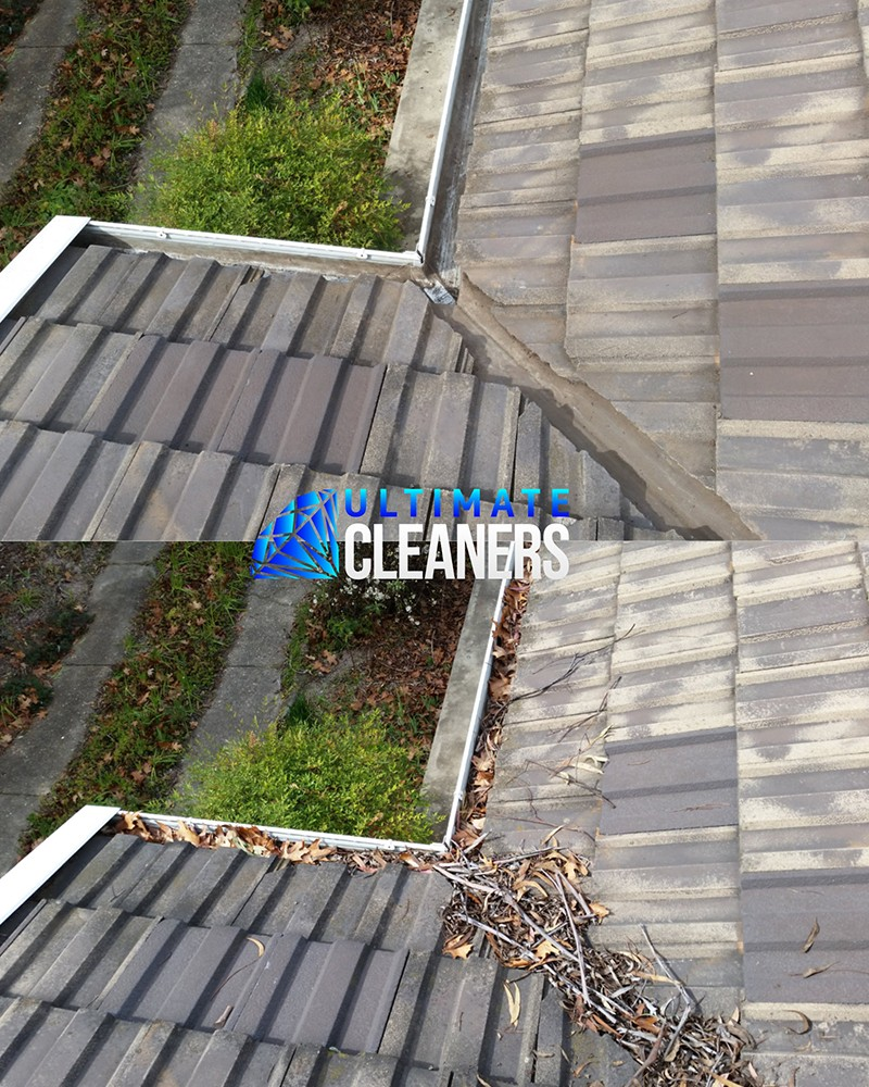 Gutter Cleaning Before & After - Ultimate Cleaners